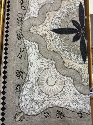 Hoopsisters Embrodieria Jacobean Journey King Sized Quilt by Stephanie Buckingham
