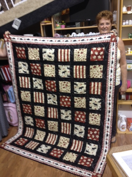 """Carol Allen's quilt """"Thank you David and Kim for serving out Country"""""""