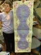 Dana Hagel with her Jacobean Journey Table Runner