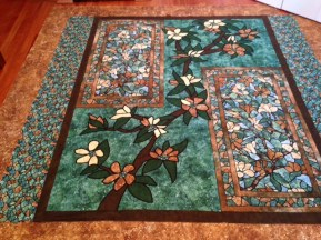Dogwood Panel Quilt made by Trudie Forbes